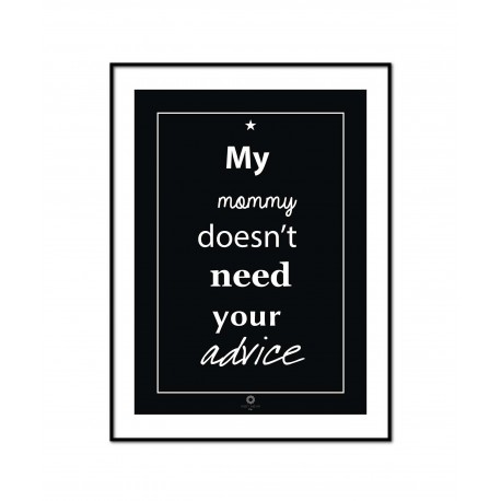 Plakat Words of wisdom No_008_black