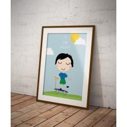 Plakat personalizowany No_004F jak Franek