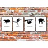 Komplet plakatów Animals