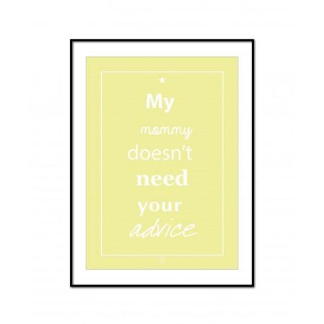 Plakat Words of wisdom No_008_yellow