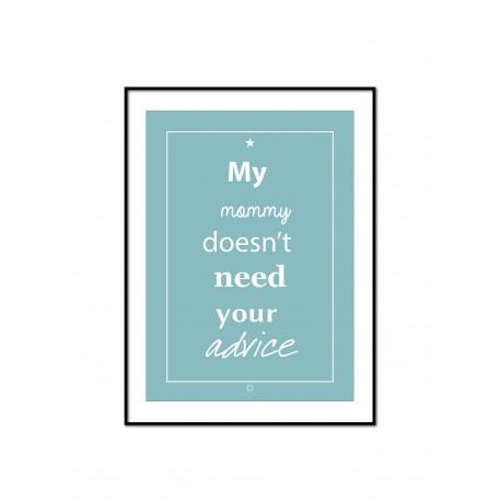 Plakat Words of wisdom No_008_blue