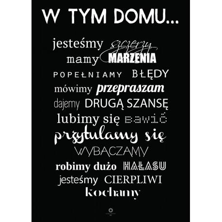 Plakat Words of wisdom No_018_black_PL
